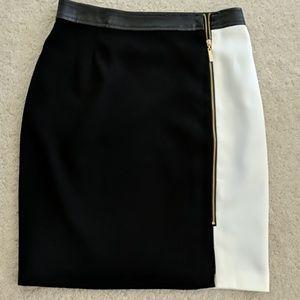 Stunning Black and White Pencil Skirt.